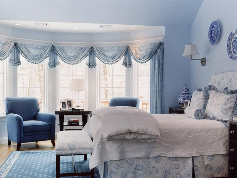 Blue and White Master Bedroom Ideas