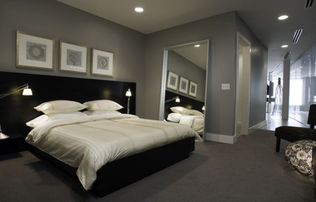 Gray and white bedroom ideas decor ideasdecor ideas for Black and silver bedroom designs
