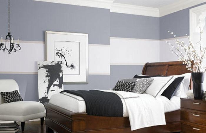 Best wall color for bedroom decor ideasdecor ideas for What kind of paint to use on kitchen cabinets for papier peint geometrique
