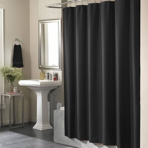 Country bathroom decor sets - Black Hookless Shower Curtain Decor Ideasdecor Ideas