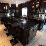 Black Kitchen Cabinets with Black Countertops