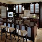 Black Kitchen Cabinets with Glass Doors