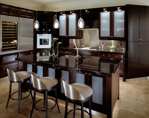 The oustanding image is segment of Distressed Black Kitchen Cabinets