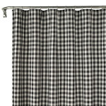 Black and White Checkered Shower Curtain