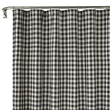 Black And White Check Curtains Grey and White Checked Curta
