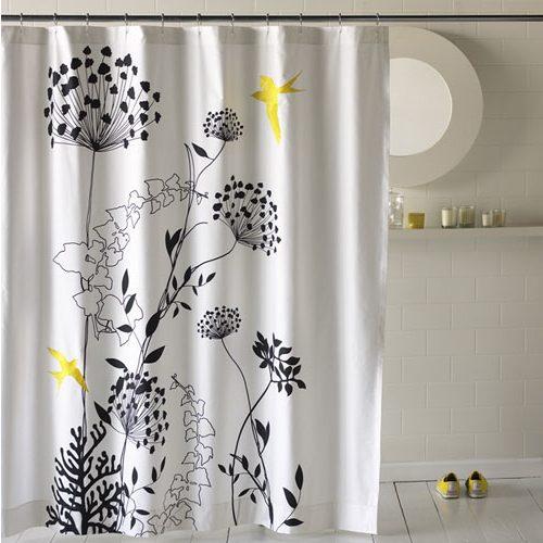 Black And White Flower Shower Curtain Decor Ideasdecor Ideas