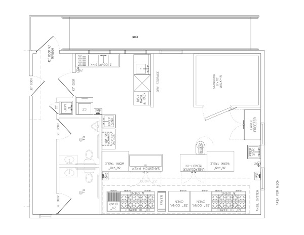 Commercial kitchen floor plans decor ideasdecor ideas for Commercial floor plans