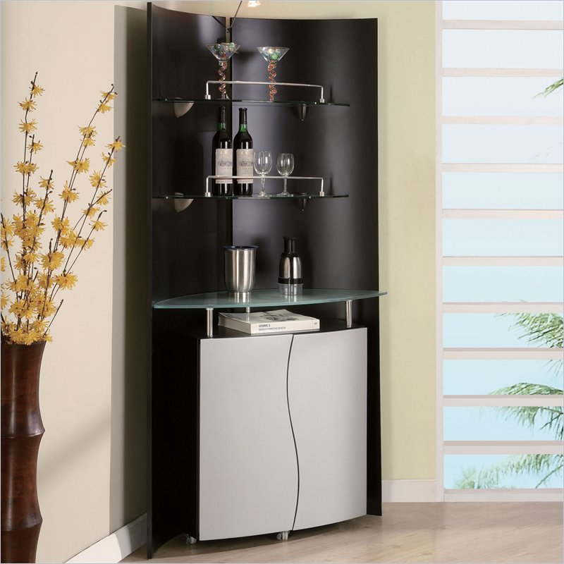 Black Home Bar Furniture: Corner Bar Furniture For The Home