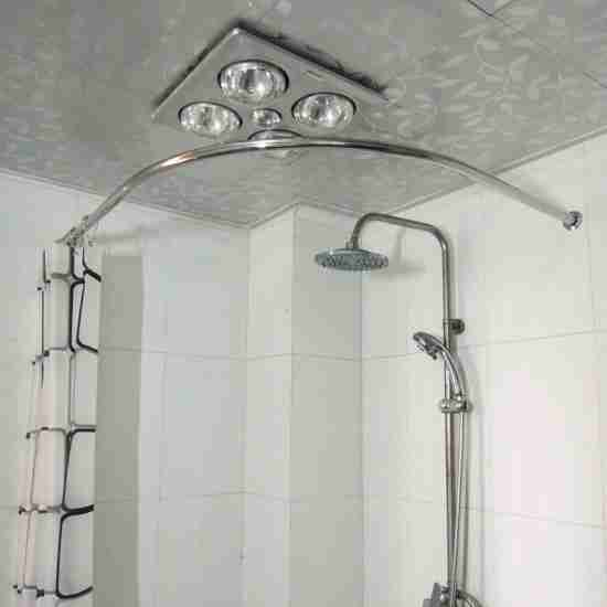 Corner-Tub-Shower-Curtain-Rod Corner Tub Bathroom Ideas