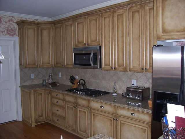 Faux Painting Kitchen Cabinets Decor IdeasDecor Ideas