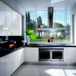 Glossy White Kitchen Cabinets