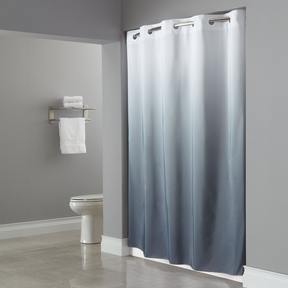 Hookless Shower Curtain Sheer Window