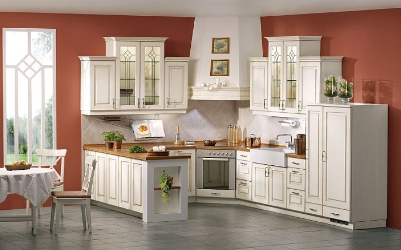 Best kitchen paint colors with white cabinets decor for Best antique white paint for kitchen cabinets