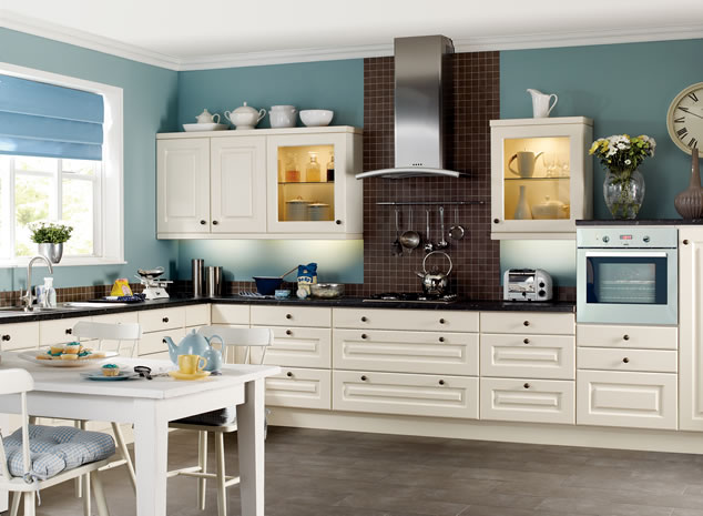 Kitchen wall colors with white cabinets decor ideasdecor for Kitchen colors with white cabinets with photo to wall art