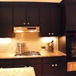 Painted Black Kitchen Cabinets