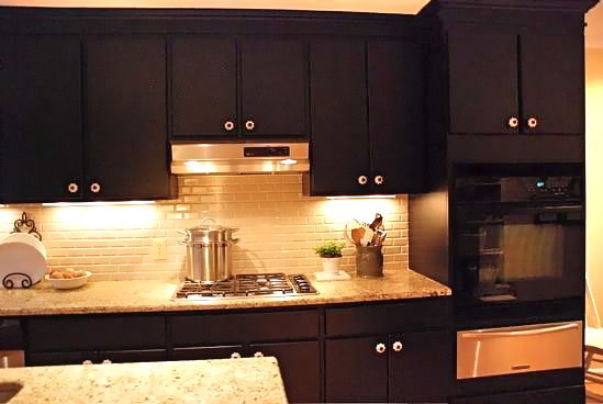 Painted Black Kitchen Cabinets Decor IdeasDecor Ideas