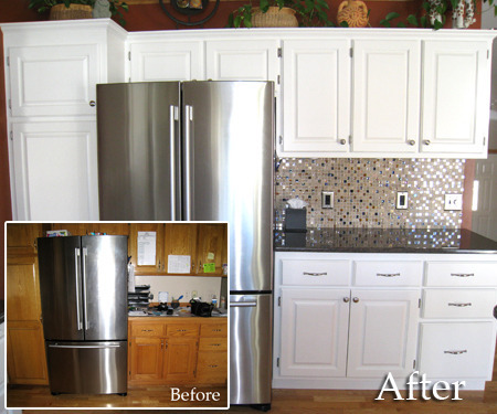 Painting Kitchen Cabinets Before and After