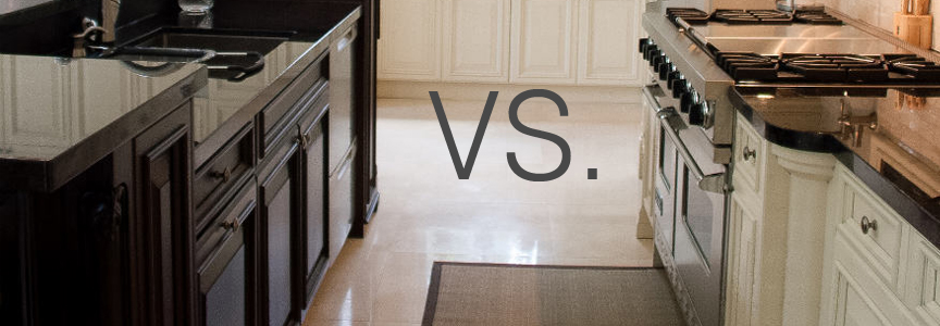 Painting vs staining kitchen cabinets decor ideasdecor ideas for White vs wood kitchen cabinets