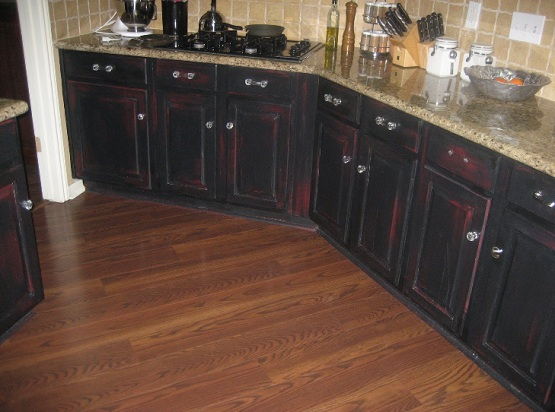Rustic Kitchen Cabinets Paint Rustic Black Kitchen Cabinets