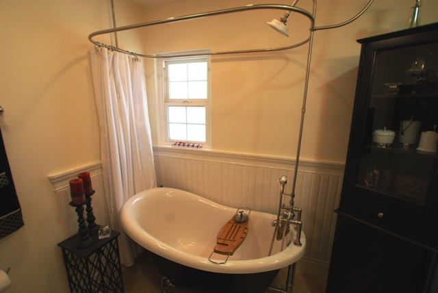 Shower Curtain Rod For Clawfoot Tub Decor IdeasDecor Ideas