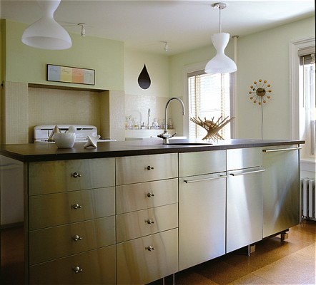 Stainless steel kitchen cabinets ikea decor ideasdecor ideas for Kitchen stainless steel cabinets