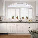 White Beadboard Kitchen Cabinets