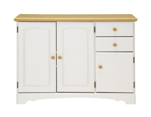 White Kitchen Buffet Cabinet
