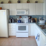 White Kitchen Cabinets and White Appliances
