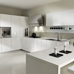 White Laminate Kitchen Cabinets