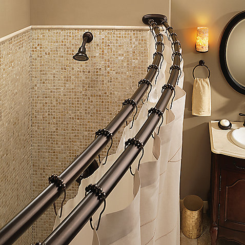Bow Window Curtain Pole Bathtub Shower Curtain Rod