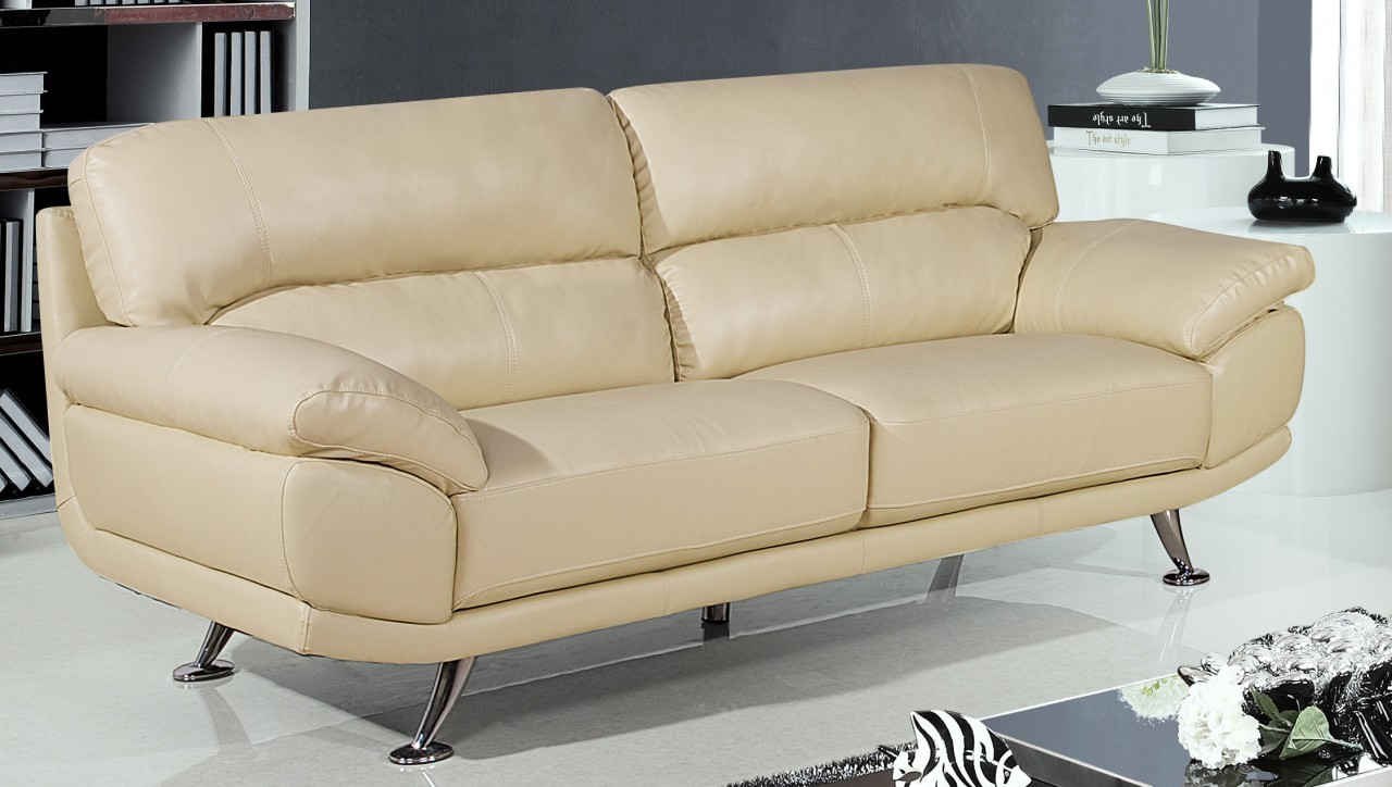Cream leather sofa on pinterest leather sofas black for Furniture leather sofa