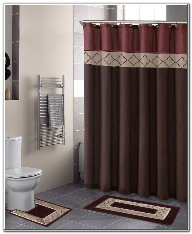 Bathroom Rug And Shower Curtain Sets