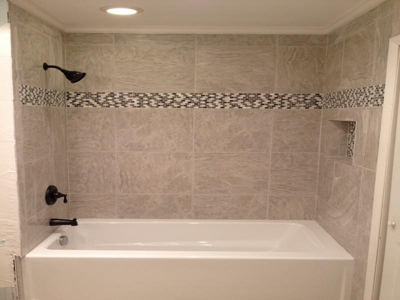 Pics Photos Tile Bathtub Ideas Bathroom Design Shower Floor Tile