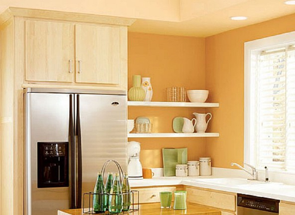 Best paint colors for small kitchens decor ideasdecor ideas for Kitchen wall paint design