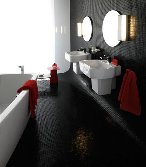 Luxury Black Bathroom Floor Tile Including The Tile