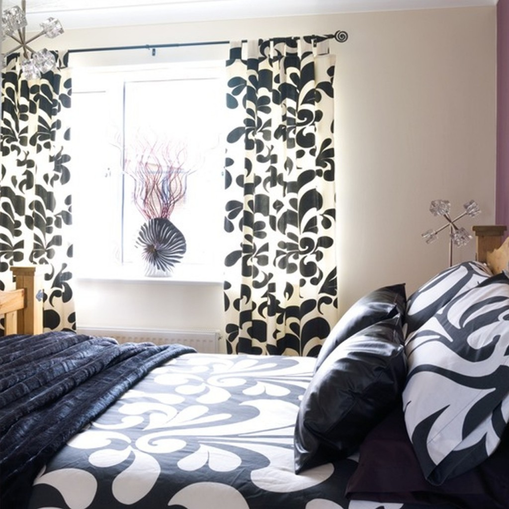 Black and White Bedroom Curtains