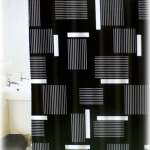Black and White Shower Curtain Set
