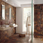 Brown Bathroom Floor Tiles