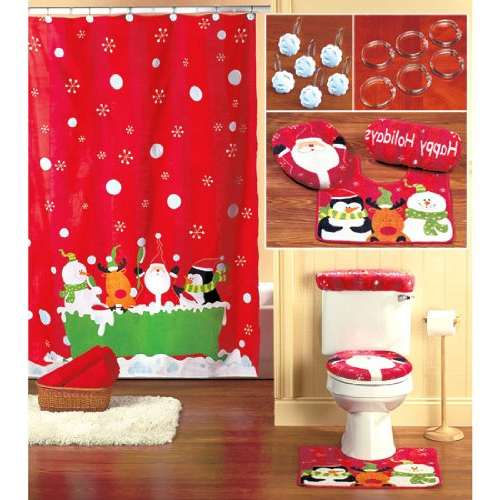 Christmas Shower Curtain Set Decor Ideasdecor Ideas