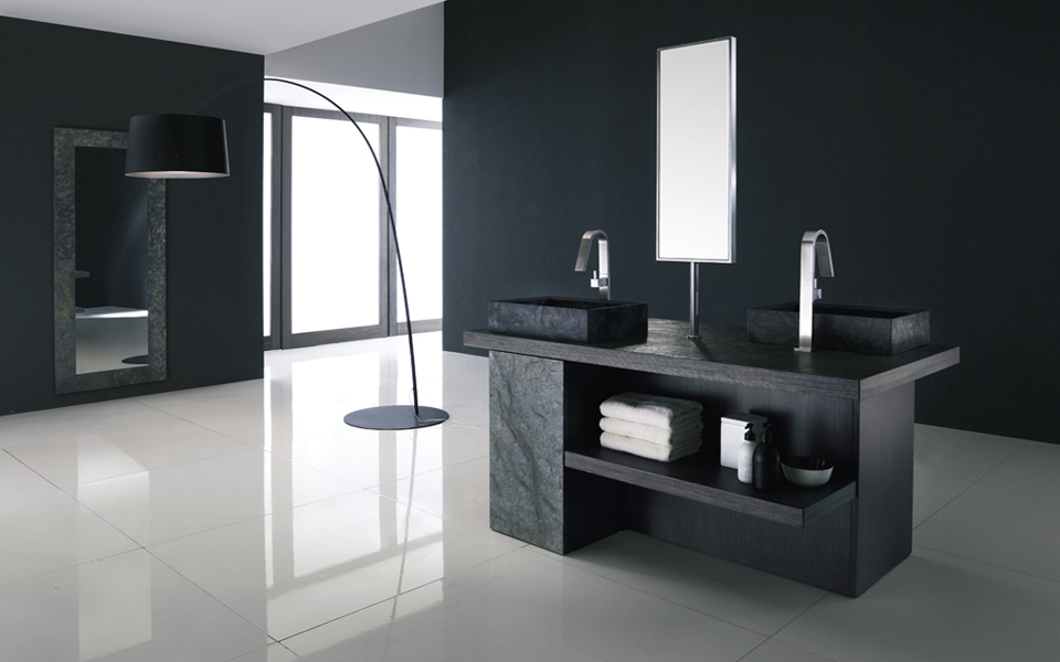 Contemporary bathroom vanity cabinets decor ideasdecor ideas for Bathroom cabinets modern