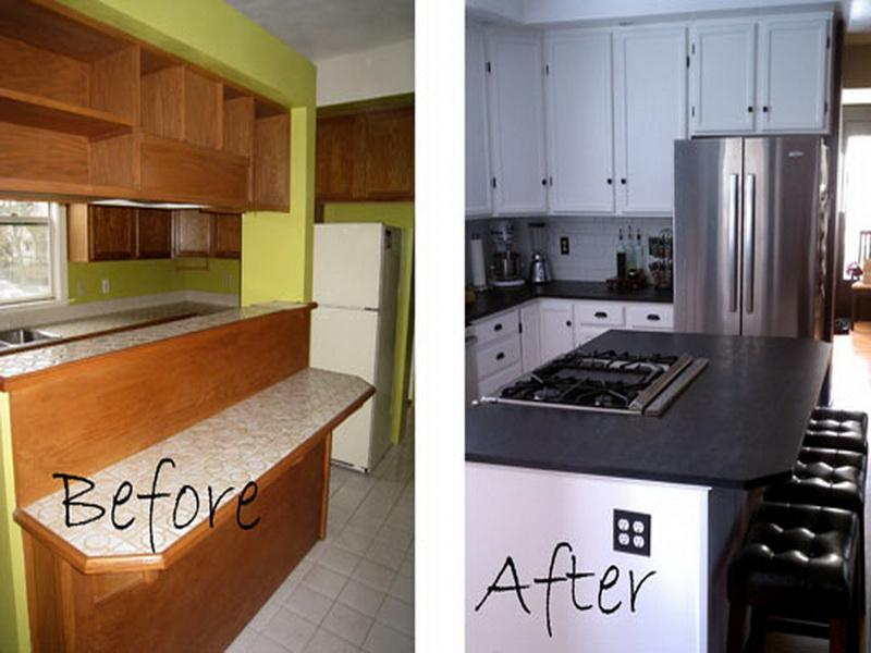 Diy kitchen remodel ideas on a budget before and after for Kitchen remodels on a budget photos
