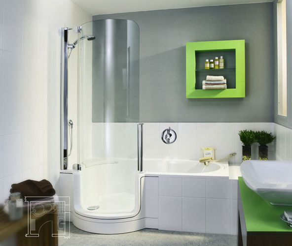 Deep bathtub shower combo decor ideasdecor ideas for Shower bathtub combo designs