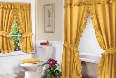 Double Swag Bathroom Shower Curtain Sets