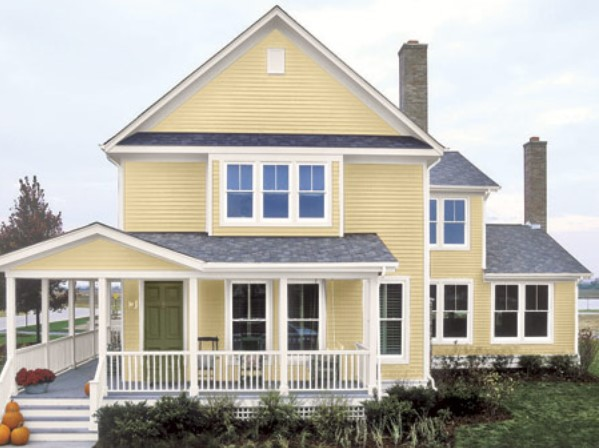 Exterior house paint color combinations decor ideasdecor for What color roof should i get for my house