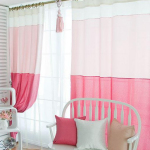 Girls Pink Bedroom Curtains