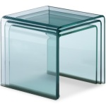 Glass Side Tables for Living Room