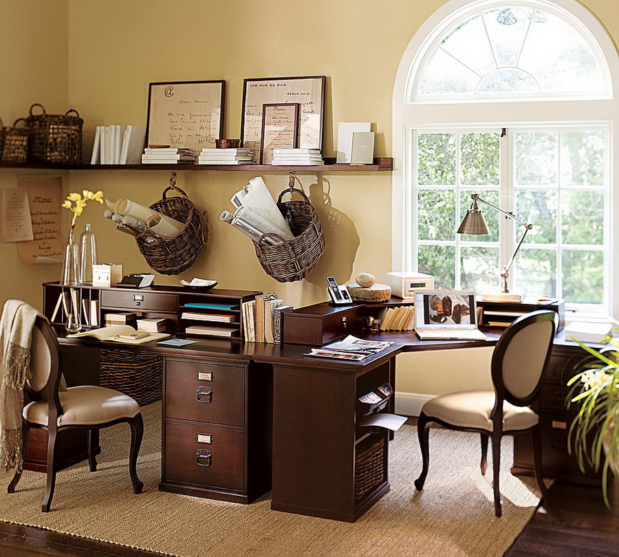 Home office decorating ideas on a budget decor for Small work office decorating ideas