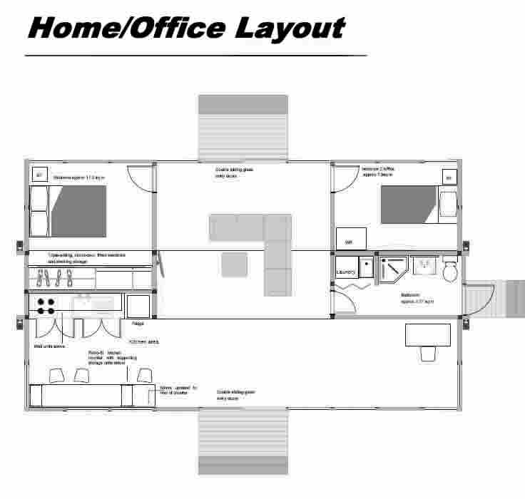 Home office design layout ideas decor ideasdecor ideas - Modern home office floor plans for a comfortable home office ...