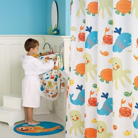 Kids shower curtain sets decor ideasdecor ideas for Kids bathroom accessories