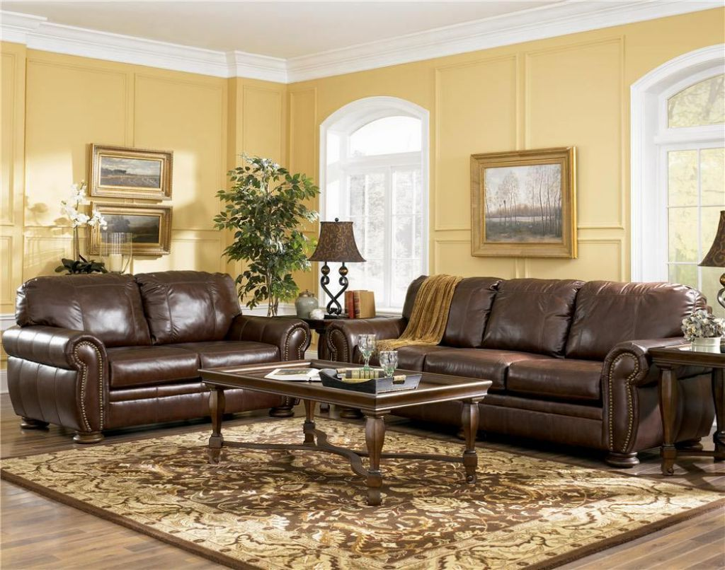 Living Room Colors Dark Furniture wall color ideas for living room with brown furniture. living room